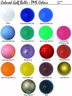 Bulk Generic Colored Golf Balls