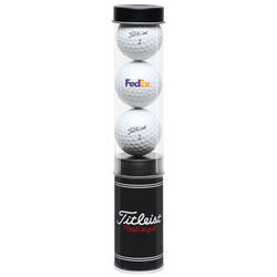 Titleist 3-Ball Tube with Stock Tees