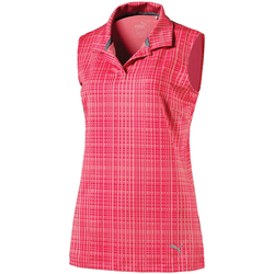 Puma Sleeveless Soft Plaid Polo