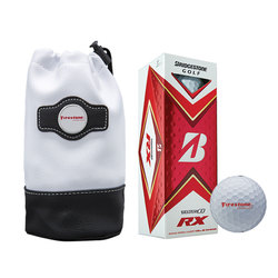 Bridgestone Custom Valuables Pouch with Golf Balls