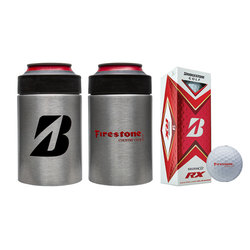 Bridgestone Custom Can Cooler with Golf Balls