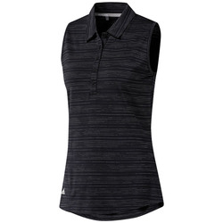 Adidas Ladies Microdot Sleeveless Polo Shirt
