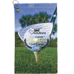 Terry Town Microfiber Velour Sublimation Golf Towel  11 x 18