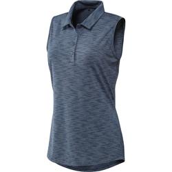 Adidas Ladies Space Dye Sleeveless Polo