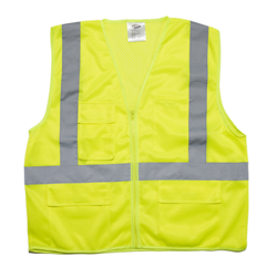 Mesh Vest w/4 Pockets & Heavy Duty Zipper