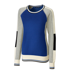 Cutter and Buck Ladies Stride Colorblock Sweater
