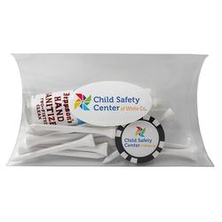 Domed Poker Chip Hand Sanitizer Pillow Pack