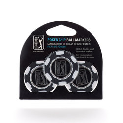 PGA Tour Poker Chip Ball Markers (3-Pack)