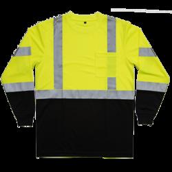 ANSI Class 3 Long Sleeve Black Bottom Pocket Tshirt