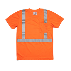Lightweight Pocket T-Shirt in Orange