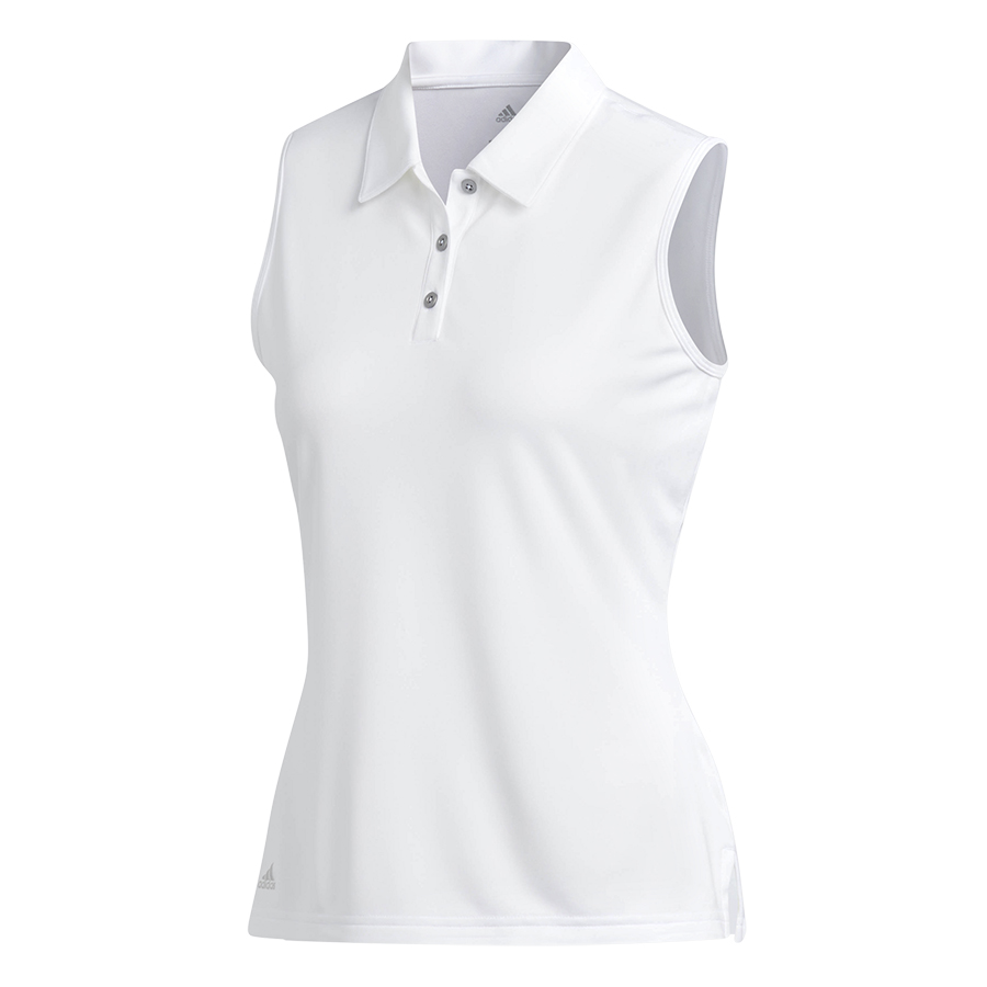 07fe8fe93a914 Adidas Women's Performance Sleeveless Polo - White