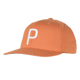 puma p 110 snapback cap - vibrant orange heather/bright white