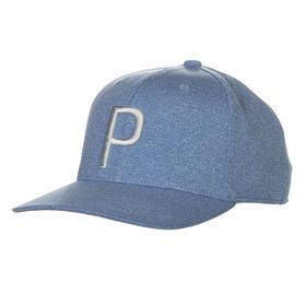 puma p 110 snapback cap - bleu azur/quarry