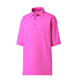 footjoy prodry performance lisle space dyed self collar polo shirt - pink azalea