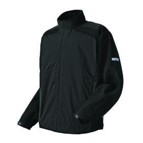 footjoy hydrolite rain jacket - black w/ zip off sleeves