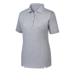 footjoy women's prodry performance solid interlock shirt  -  space dye charcoal