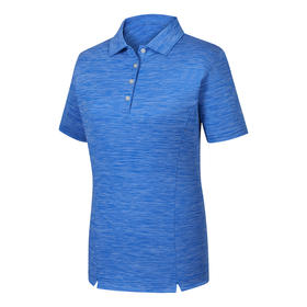 footjoy women's prodry performance solid interlock shirt - space dye royal