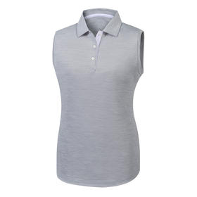 footjoy women's prodry performance sleeveless shirt - space dye charcoal