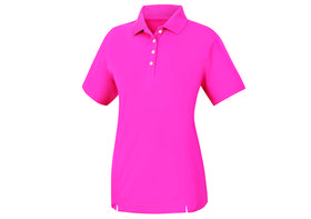 footjoy women's prodry performance solid interlock shirt - hot pink