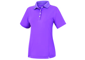 footjoy women's prodry performance solid interlock shirt - purple
