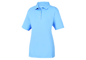 footjoy women's prodry performance solid interlock shirt - light blue