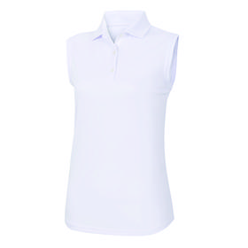 footjoy women's prodry performance sleeveless shirt - white