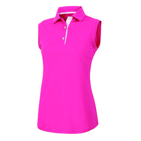 footjoy women's prodry performance sleeveless shirt - hot pink