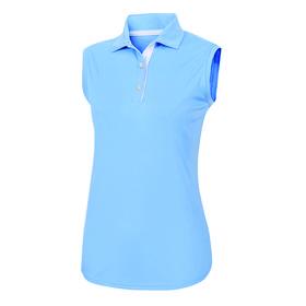 footjoy women's prodry performance sleeveless shirt - light blue
