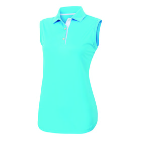 footjoy women's prodry performance sleeveless shirt - aqua