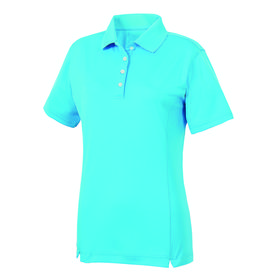 footjoy women's prodry performance solid interlock shirt - aqua