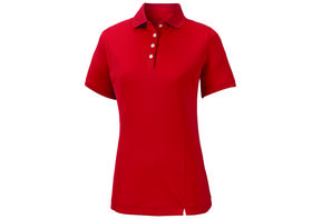 footjoy women's prodry performance solid interlock shirt - red
