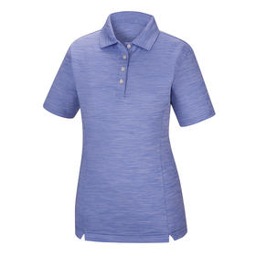 footjoy women's prodry performance solid interlock shirt  - periwinkle space dye
