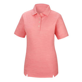 footjoy women's prodry performance solid interlock shirt - pink space dye