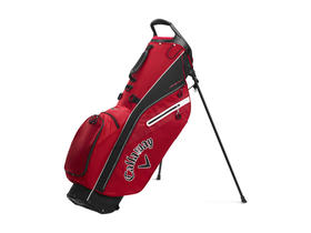 callaway fairway c stand bag single strap - red/black/white