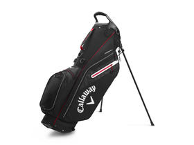 callaway fairway c stand bag single strap - black/silver/red