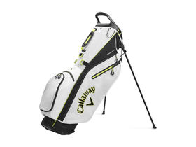 callaway fairway c stand bag double strap - white/black/yellow