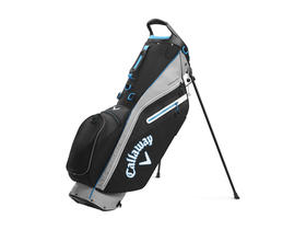 callaway fairway c stand bag double strap - black/silver/cyan