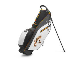 callaway fairway c stand bag single strap - white/charcoal/orange