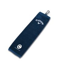 callaway tri-fold towel - navy