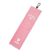 callaway tri-fold towel - pink