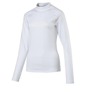 puma women's warm base layer - bright white