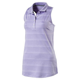 puma womans racerback polo - purple  rose
