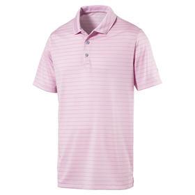 puma rotation stripe polo - pale pink
