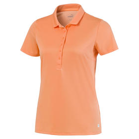 puma women's rotation polo - cantaloupe