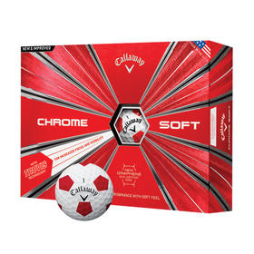 callaway chrome soft truvis - white and red
