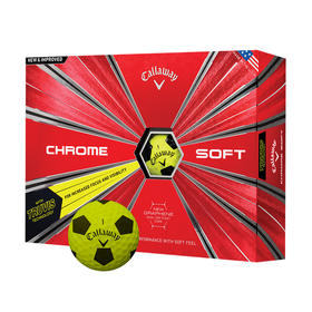 callaway chrome soft truvis - yellow and black