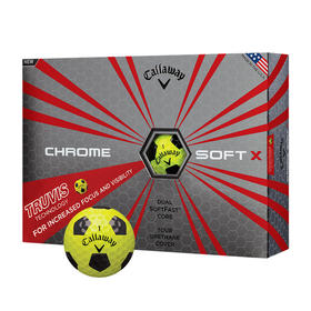 callaway chrome soft x truvis - yellow and black