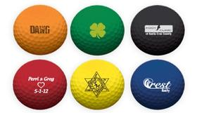 generic colored golf balls