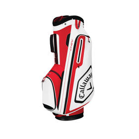 callaway chev cart bag - red/white