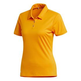 adidas women's performance short sleeve polo - bright orange
